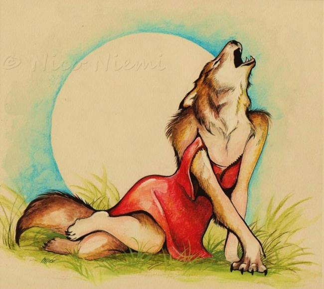Art: She-Wolf by Artist Nico Niemi