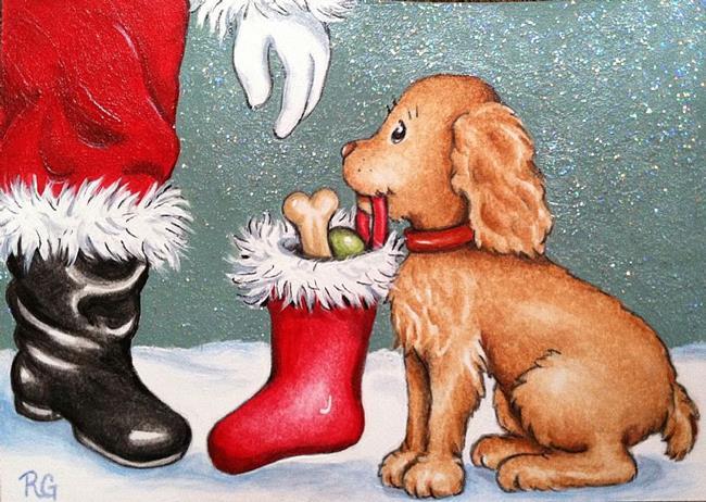 Art: thanks santa by Artist Rhonda Gilbert