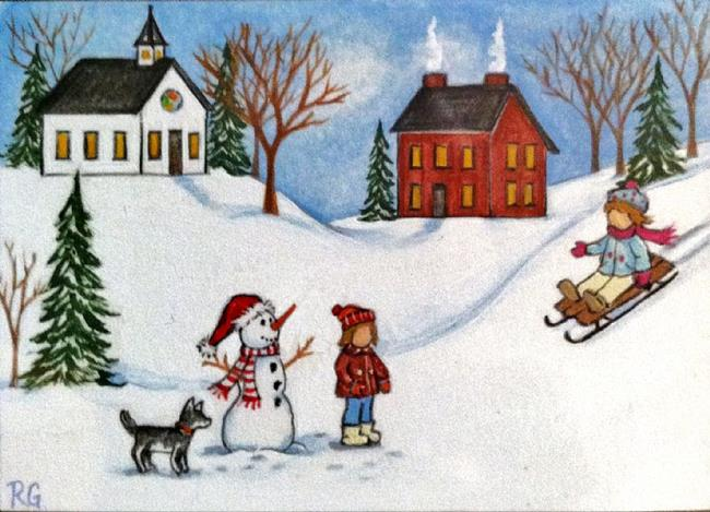 Art: Winter memories by Artist Rhonda Gilbert