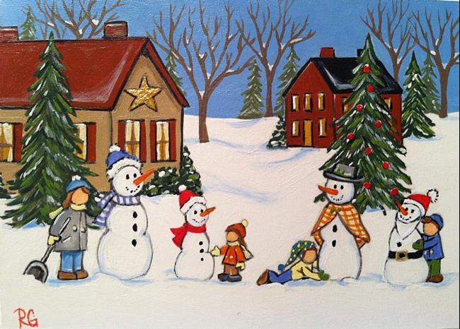 Art: Snowman contest by Artist Rhonda Gilbert