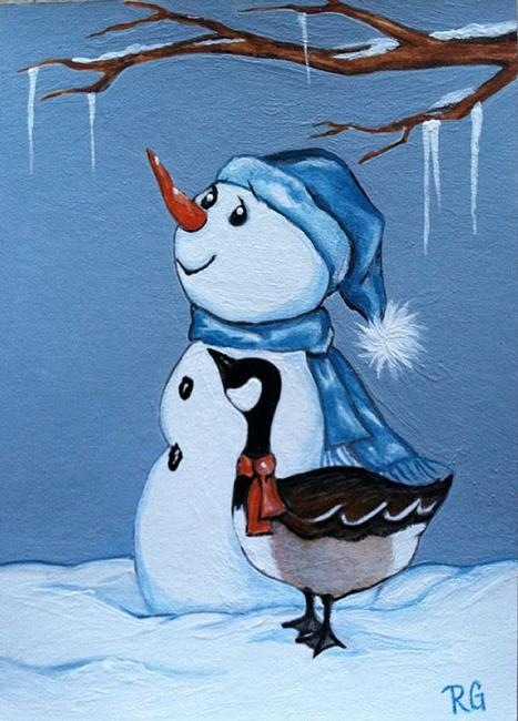 Art: Chilly Winter day by Artist Rhonda Gilbert
