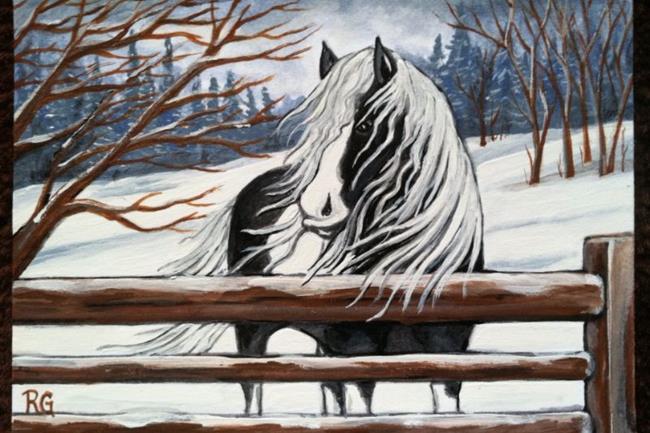 Art: Winters Beauty by Artist Rhonda Gilbert