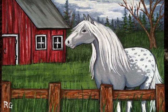Art: At home on the farm by Artist Rhonda Gilbert
