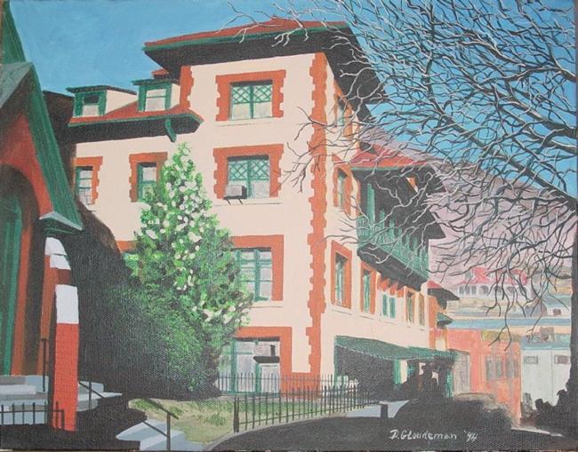 Art: Copper Queen Hotel by Artist Denis Gloudeman