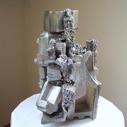 Art: Falling Silver by Artist Shirley Jean