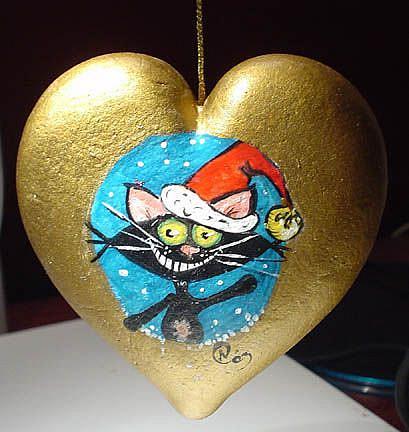 Art: Kitt Katt SANTA by Artist Noelle Hunt