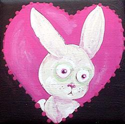 Art: Love Sick Bunny by Artist Noelle Hunt