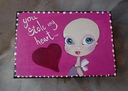 Art: You stole My heart by Artist Noelle Hunt