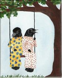 Art: Bird Swing by Artist Tau