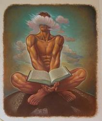 Art: Nude Reader by Artist John Thompson