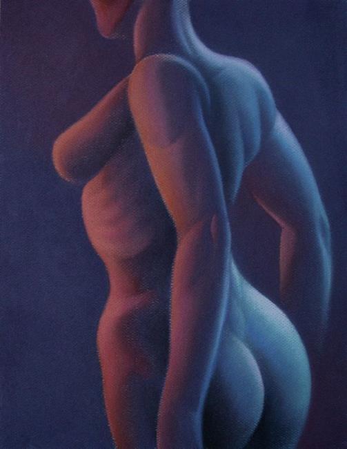 Art: Pastel Nude 2 by Artist John Thompson