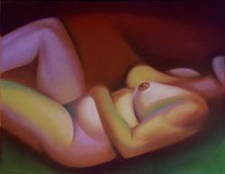 Art: Pastel Nude Study 1 by Artist John Thompson