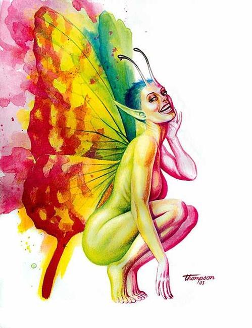 Art: Fairy by Artist John Thompson