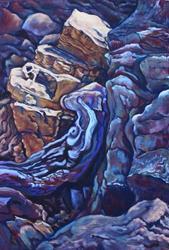 Art: Roca Besada per la sol (sold) by Artist Carroll Charest