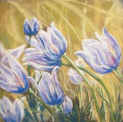 Art: A Breath of Spring Air (sold) by Artist Carroll