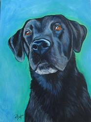 Art: Portrait of Bear by Artist Padgett Mason