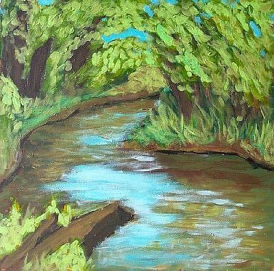 Art: Riverbend (en plein air) by Artist Amie R Gillingham