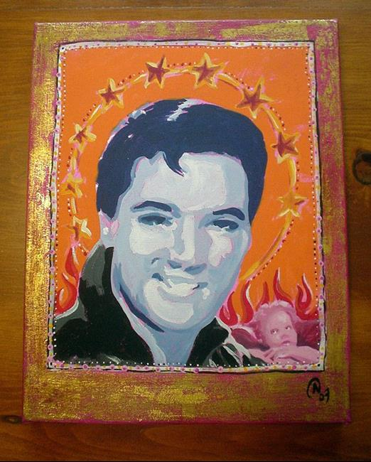 Art: Iconic Elvis by Artist Noelle Hunt
