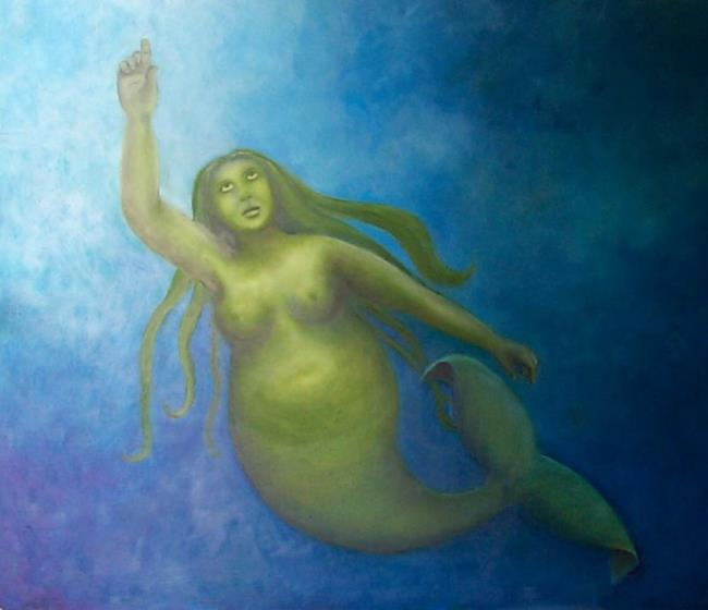 Art: The Rotund Mermaid by Artist Marina Owens