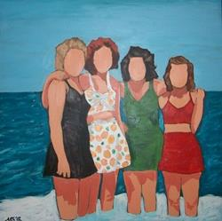 Art: Bathing Beauties '43 by Artist Amie R Gillingham