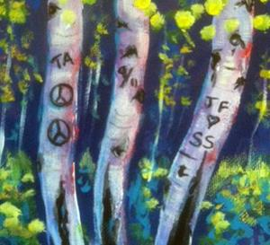 Detail Image for art Moonlight Aspens