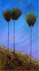 Art: Down Hill by Artist Diane Funderburg Deam