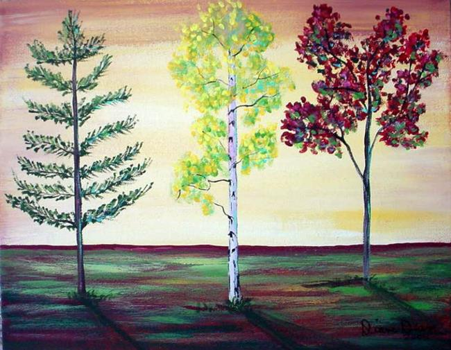 Art: The Trees at Wal Mart by Artist Diane Funderburg Deam