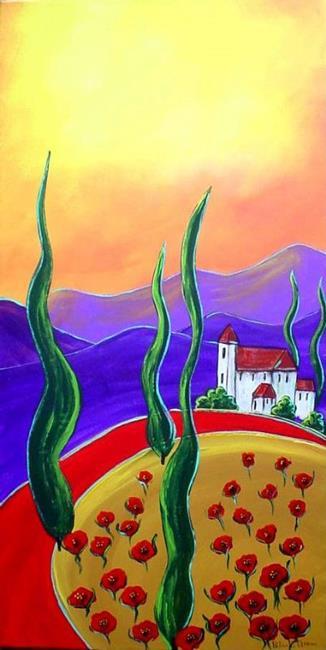 Art: Road to My Villa by Artist Diane Funderburg Deam