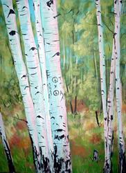 Art: Peace Aspens by Artist Diane Funderburg Deam