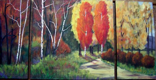 Art: Oaks and Aspens by Artist Diane Funderburg Deam