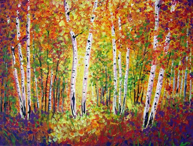 Art: Fall in Arizona High Country by Artist Diane Funderburg Deam