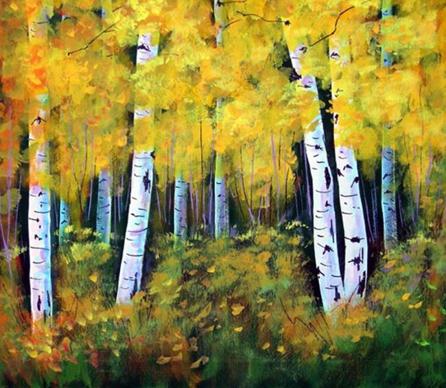 Art: Yellow Arizona Aspens by Artist Diane Funderburg Deam