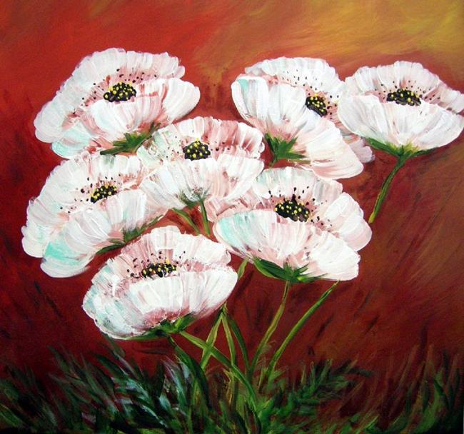 Art: Ghost Poppies 08 by Artist Diane Funderburg Deam