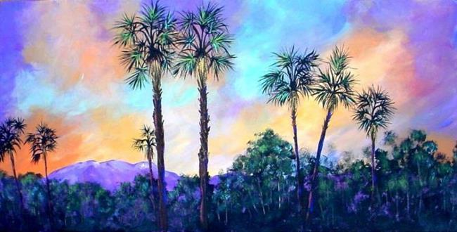 Art: Palm Springs Sunset by Artist Diane Funderburg Deam