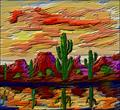 Art: Twisted Brush Desert by Artist Diane Funderburg Deam