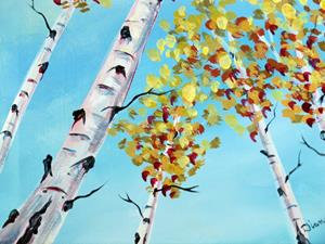 Detail Image for art Looking Up Aspens