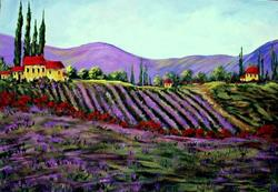 Art: Lavender Tuscany by Diane Funderburg Deam