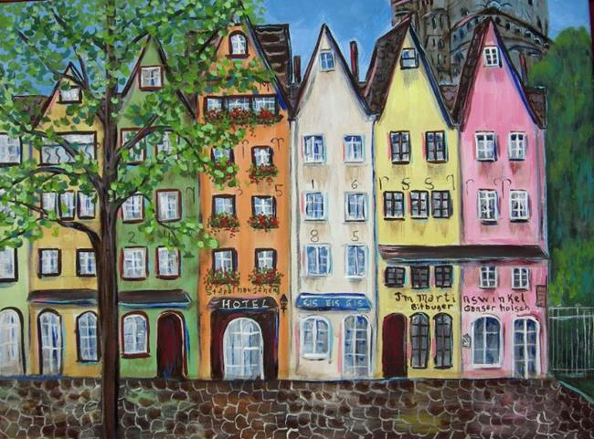 Art: Cologne Germany Stores by Artist Diane Funderburg Deam