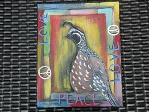 Detail Image for art Peace and Love Quail