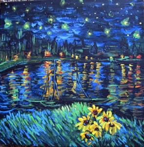Detail Image for art Starry Night on the