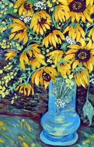 Detail Image for art Friday's Sunflowers