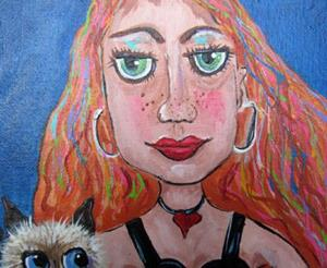 Detail Image for art Jessica and Tigger