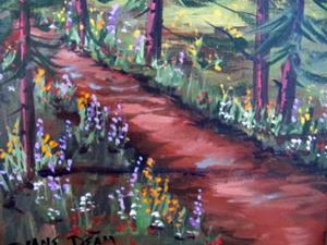 Detail Image for art Wildflowers in the Pines