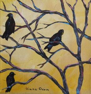 Detail Image for art Crows in Trees
