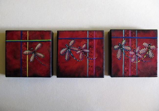 Art: Dragonfly Paintings by Artist Diane Funderburg Deam