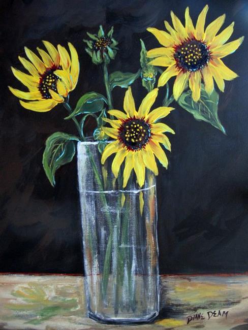 Art: Sunflowers for Manet by Artist Diane Funderburg Deam