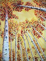 Art: Bottom Up Fall by Artist Diane Funderburg Deam