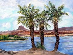 Art: Lake Havasu Palms by Artist Diane Funderburg Deam