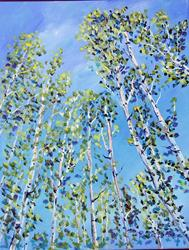 Art: Aspens Grove on 240 AZ by Artist Diane Funderburg Deam