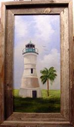Art: Port Ponchartrain Lighthouse by Artist Barbara Haviland